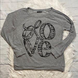 Lauren Moshi X AQUA Love Pullover Sweatshirt sz XS